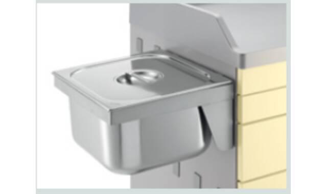 Med-Systeme - Vierkante RVS schaal met deksel